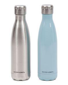 2pk Stainless Steel Beverage Bottles