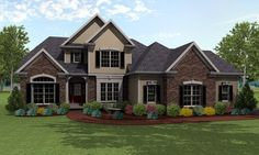 House Plan 54048 | Cape Cod    Plan with 2571 Sq. Ft., 3 Bedrooms, 3 Bathrooms, 2 Car Garage