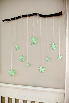 DIY Tutorial DIY Nursery Mobiles / DIY Branch with 3D Stars - Bead&Cord