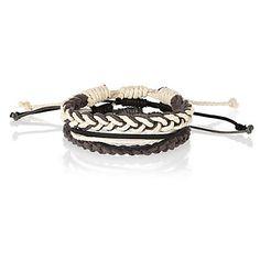 Dark grey woven rope bracelet pack £4.00