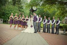 Purple and grey wedding ideas Rachel Lusky Photography