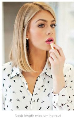 Neck Length Hairstyles find this pin and more on hairstyles by lindalengland Cute Length