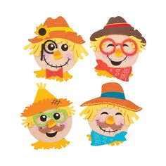 Create a fall favorite with this Scarecrow Head Magnet Craft Kit. Featuring instructions on how to create your own scarecrow, this is a must-have addition to . Felt Crafts Diy, Fun Crafts To Do, Diy Crafts For Gifts, Cute Crafts, Crafts To Sell, Arts And Crafts, Ribbon Crafts, Resin Crafts, Bead Crafts