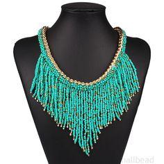 Fashion-Pendant-Chain-Crystal-Choker-Statement-Bib-Necklace-Chunky-Jewelry-Gift