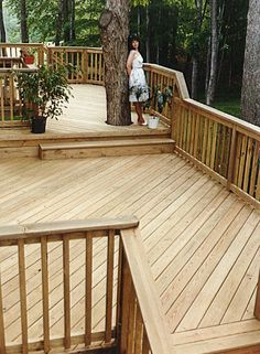 How to Clean a Bare, Unfinished-Cedar Wood Deck Without Harsh Chemicals