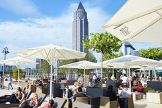 ALEX, a German food & beverage chain Bar Bistro, Café Bar, Iron Chef, Frankfurt, Rooftop Bar, Food Service, Deck, Skyline, Patio