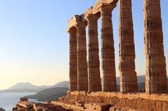 See breathtaking Cape Sounion and its shimmering Temple of Poseidon on this private morning or afternoon tour from Athens! Travel by private, air-conditioned minivan along the beautiful Attica Riviera, and visit the clifftop temple that stands on the Parthenon, Acropolis, Marble Columns, Ancient Buildings, Seven Wonders, Top Destinations, Archaeological Site, Day Tours, Day Trip