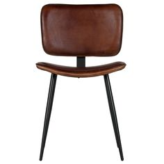The Range dining chair, part of the BePureHome collection, is a trendy addition to the dining table. The Range dining chair is available in two different colors, both real leather: cognac and olive green. Ranger, Dining Table Chairs, Real Leather, Stool, Living Room, Furniture, Vintage, Design, Home Decor