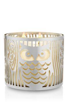 Slatkin & Co. - 14.5 oz. Metal Candle Sleeve - Silver Owl