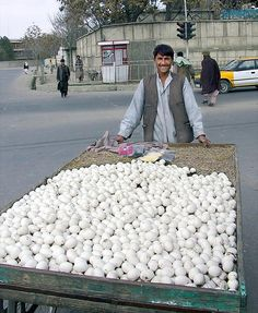 """The Egg Man"" - selling eggs in Kabul, Afghanistan by Michael Foley People Around The World, Around The Worlds, World Street, Working People, Central Asia, World Cultures, Afghanistan, Lonely Planet, Brunei"