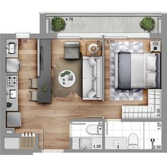 Small Studio Apartment Layout Design Ideas - Welcome my homepage Small Apartment Plans, Small Apartment Layout, Studio Apartment Floor Plans, Studio Apartment Layout, Small Apartment Living, Apartment Design, Small Apartments, Bedroom Apartment, Studio Layout