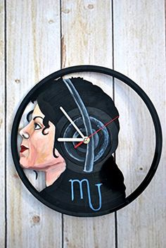 Music Vinyl Record Wall Clock  Get unique kitchen bedroom or living room wall decor  Gift ideas for his and her  King of Pop Unique Art Design ** Visit the image link more details.