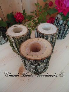 Tree Branch Vase, Log Flower Holder, for Rustic Weddings, Country Weddings, Rustic Center Piece