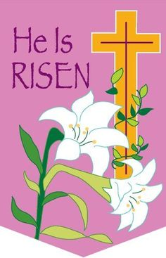 """0638FL Applique Easter Cross Large Flag by Custom Decor. $18.99. Bright Beautiful Artwork. 100% Polyester - Fade & Mold Resistant. Permanently Dyed with a Vivid Color Process. Flag Measures Approximately 28"""" x 40"""". Garden Flag Outdoor Décor. #######################################################################################################################################################################################################################################..."""