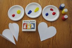 Surprise Color Mixing Heart Craft for Preschoolers mouse colors