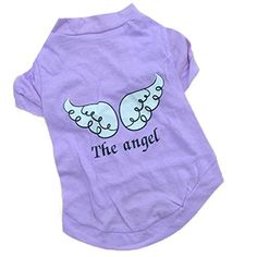 Pet Clothes,Haoricu Summer The Angel Vest Cotton Pet Clothing Pet Costume Small Dog Cat Apparel Sleeveless T shirt (S, Purple) >>> Want to know more, click on the image.
