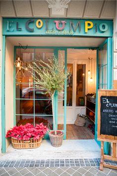 Restaurant in Madrid Cafe Interior Design, Cafe Design, Store Design, Boutique Decor, Boutique Interior, Deco Restaurant, Restaurant Design, Mini Cafe, Storefront Signs