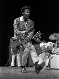 Chuck Berry - more photos here: www.pinterest.com/pinbyart/music-artists