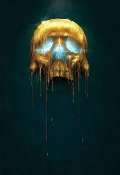 Gilded Skull by Sam Spratt: http://skullappreciationsociety.com/gilded-skull-by-sam-spratt/ via @Skull_Society