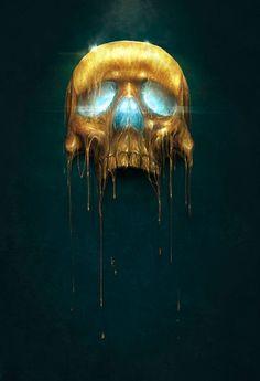 ☆ Gilded Skull :¦: By Artist Sam Spratt ☆