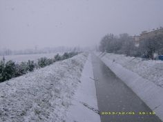Weather is Snowy in North Italy . Photo taken near Piacenza Emilia-Romagna