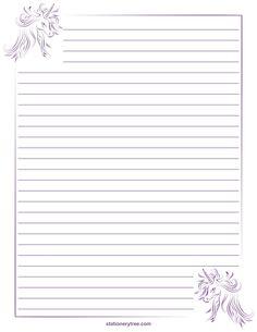 Unicorn Stationery and Writing Paper