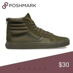 ISO looking for- Ivy green sk8 hi Vans In a size 7 or 8! 💗 NOT for sale I'm LOOKING to buy them Vans Shoes
