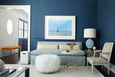 Black Dining Room Decor ideas - How do you add color to a dining room? Black Dining Room Decor ideas - How do you make an antique dining table look modern? Blue Living Room Decor, Living Room Paint, Living Room Designs, Bedroom Decor, Bedroom Kids, Blue Bedroom, Bedroom Designs, Wall Decor, Home Wall Colour