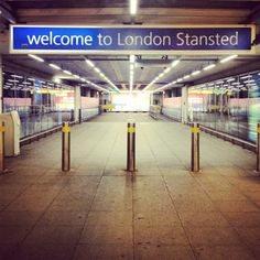 LONDON....... Stansted Airport - London's third-busiest airport, currently serving around 18 million passengers a year.