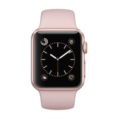 Apple® Watch Series 1 42mm Rose Gold Aluminum Case with Pink Sand... ❤ liked on Polyvore featuring jewelry, watches, pink jewelry, red gold jewelry, pink wrist watch, sand jewelry and sport wrist watch