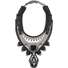 Dylanlex Keira Necklace (1,025 CAD) ❤ liked on Polyvore featuring jewelry, necklaces, black, swarovski crystal jewelry, oxidized jewelry and swarovski crystal necklace