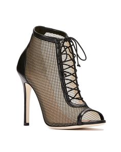 Scanlan Theodore Mesh lace Up Bootie.