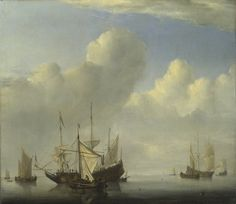 A Dutch Ship coming to Anchor