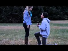 This is the cutest wedding video ever!!! K so this guy makes a video of him and his girlfriend and in the end he proposes to her without her even knowing!!! UGH so cute! Just watch it!!! -- I'm sobbing.