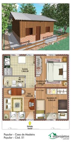 Imagen relacionada Round House Plans, Small House Plans, Small Cottages, Cabins And Cottages, Tiny House Cabin, My House, Arched Cabin, Sims House Design, 2 Bedroom House Plans