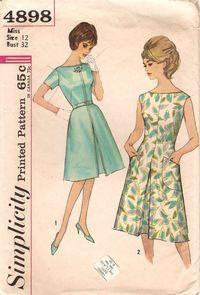 """simplicity 4898 - size 16 36"""" 1963"""