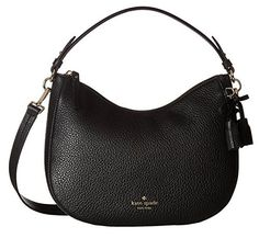 online shopping for Kate Spade New York Women's Hayes Street Small Aiden Hobo Bag from top store. See new offer for Kate Spade New York Women's Hayes Street Small Aiden Hobo Bag Black Handbags, Tote Handbags, Purses And Handbags, Luxury Handbags, Leather Purses, Leather Crossbody, Satchel Purse, Crossbody Bags, Shoulder Handbags