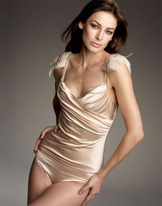La Perla Pleated Bustier With Feathers www.viecouture.com