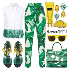 """""""Hot Tropics"""" by barbarela11 ❤ liked on Polyvore featuring Delpozo, Dolce&Gabbana, Betsey Johnson, Moschino and Nixon"""