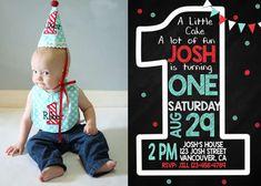 First Birthday Invitation #catchmyparty #1stbirthday #invitation