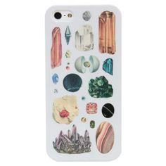 iPhone5/5Sケース「鉱石標本(ライトグレー)」の商品イメージ