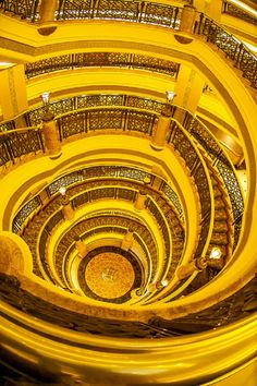 Golden Stairs in Emirates Palace Hotel, Abu Dhabi,  UAE