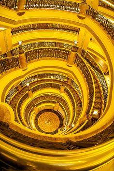 Golden Stairs in Emirates Palace Hotel, Abu Dhabi, UAE