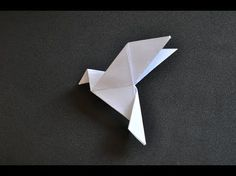 Origami dove: how to make an origami dove! My free Origami (Paper Folding) person video-course! How to make an Origami Dove for Easter / Peace Day (by Alice Gray) . Learn here how to make a dove of peace like this. Do yourself using a square paper size yo Gato Origami, Origami Dove, Instruções Origami, Origami Paper Folding, Origami Envelope, Origami Wedding, Paper Crafts Origami, Useful Origami, Origami Design