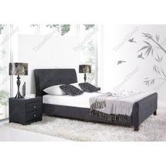 Kaydian // Kaydian Amble Upholstered Bed Frame - Slate - $349.00