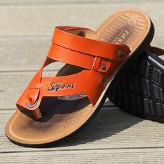 low cost e8ee2 3ba99 24.94  Nueva llegada 2016 hombres del verano zapatos de hombre zapatillas  moda casual playa del envío gratis en Sandalias de las mujeres de Zapatos  en ...