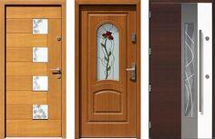 Drewniane drzwi zewnętrzne wejściowe mix