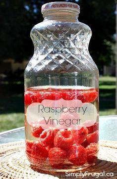 How to Make Raspberry Vinegar -