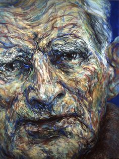 Portrait of Samuel Beckett-Maggie Hambling Samuel Beckett, Abstract Portrait, Portrait Art, Portrait Paintings, Beauty Portrait, Francis Bacon, Paul Klee, Andy Warhol, Maggi Hambling
