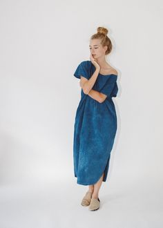 cabana dress / indigo